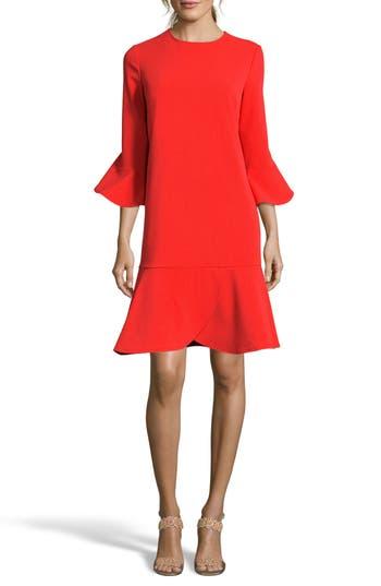 Women's Eci Ruffle Bell Sleeve Shift Dress