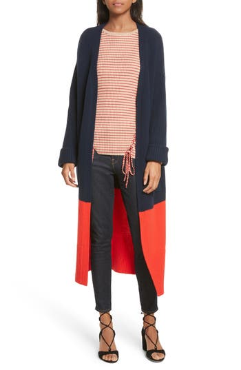 Women's Tabula Rasa Babur Colorblock Long Wool Cardigan