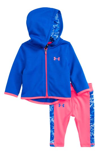 Infant Girl's Under Armour Range Camo Zip Up Hoodie & Leggings Set