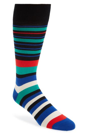Men's Paul Smith Fern Stripe Socks, Size One Size - Black