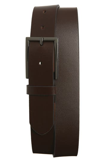 Big & Tall Nordstrom Shop Victor Leather Belt, Brown