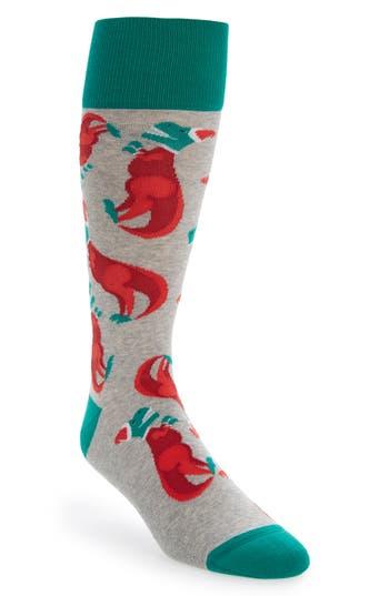 Men's Nordstrom Men's Shop Holiday T-Rex Socks