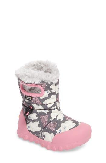 Toddler Girl's Bogs B-Moc Bears Waterproof Insulated Faux Fur Boot