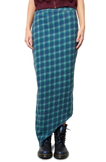 Women's Frank & Eileen Tee Lab Asymmetrical Plaid Maxi Skirt