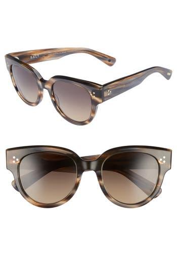 Salt 52Mm Polarized Sunglasses - Tortoise Grey