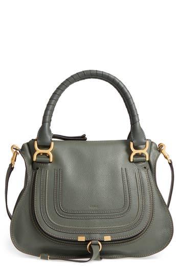 Chloé 'Medium Marcie' Leather Satchel - Black