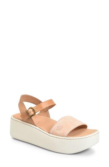 Women's B?rn Breaker Platform Sandal, Size 8 M - Orange