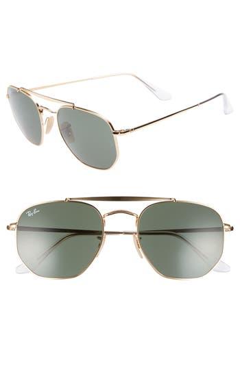 Ray-Ban Marshal 5m Aviator Sunglasses - Gold/ Green