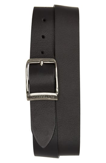 Rodd & Gunn Cornonet Crescent Leather Belt, Nero