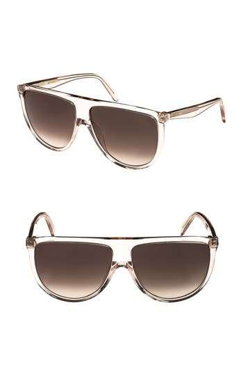 Celine 62Mm Pilot Sunglasses - Pink/ Brown