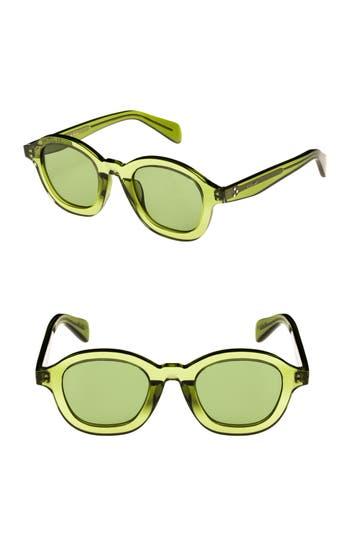 Celine 47Mm Round Sunglasses - Green