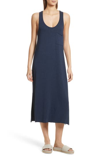 Atm Anthony Thomas Melillo Pocket Midi Dress, Blue