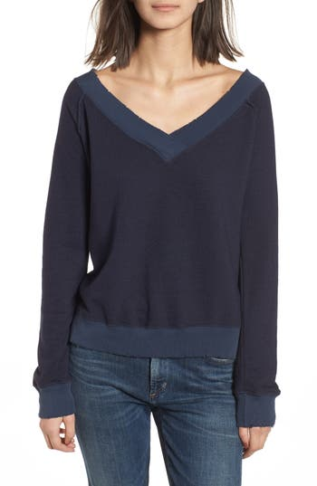 N:philanthropy Mayer V-Neck Sweatshirt, Blue