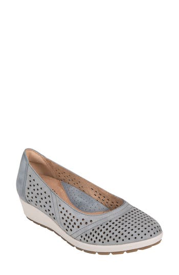 Earth Violet Wedge- Blue