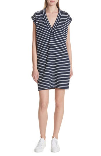 Atm Anthony Thomas Melillo Stripe Shift Dress, Blue