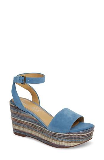 Splendid Felix Platform Wedge Sandal- Blue