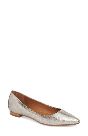 Frye Sienna Pointy Toe Ballet Flat- Metallic