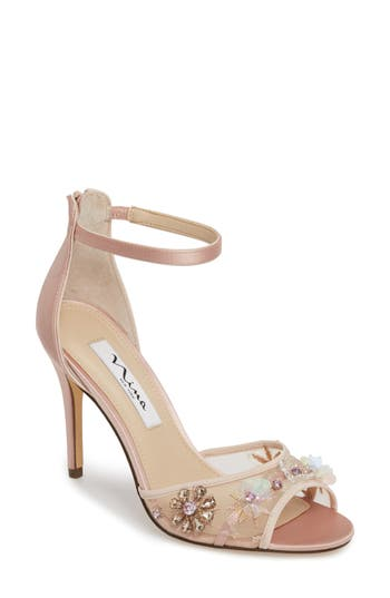 Women's Nina Clarity Ankle Strap Sandal, Size 9.5 M - Pink