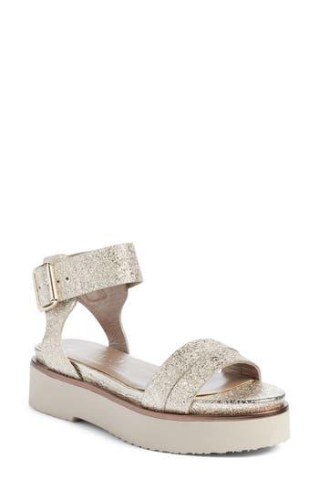 Agl Ankle Strap Sandal, Metallic