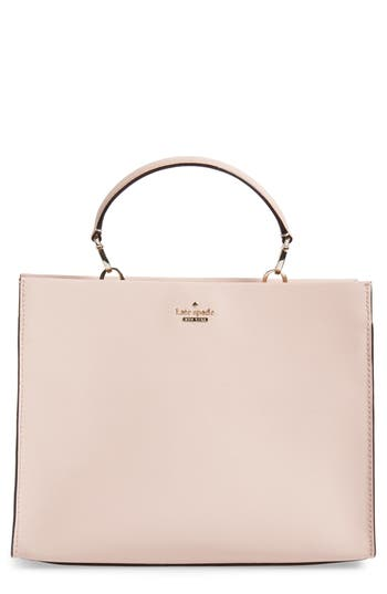 Cameron Street - Sara Leather Satchel - Pink, Warm Vellum