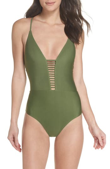 Bca Enchanted Solid One-Piece Swimsuit, Green