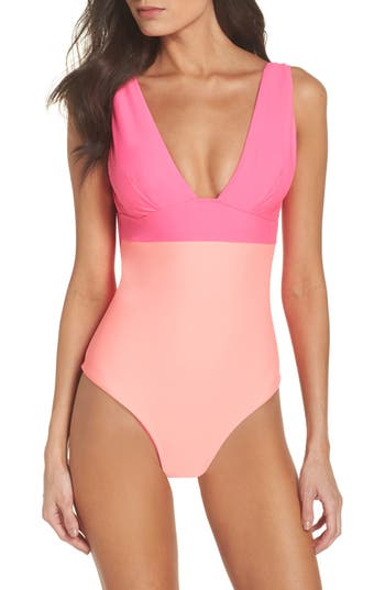 Ted Baker London Contrast One-Piece Swimsuit