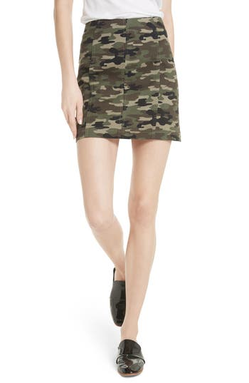 We The Free By Free People Modern Femme Camo Skirt, Green
