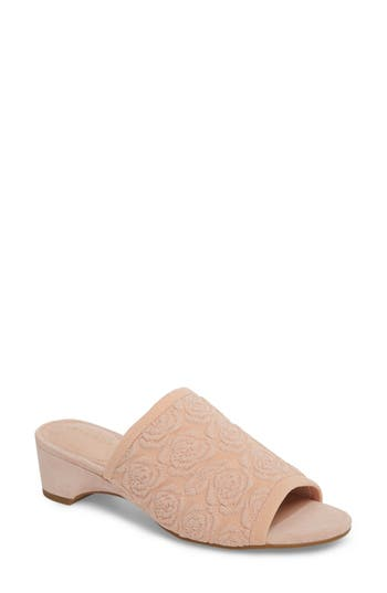 Taryn Rose Nancy Slide Sandal, Pink