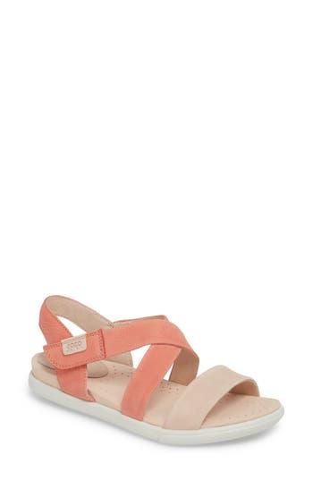 Ecco Damara Cross-Strap Sandal, Pink