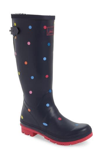 Joules Print Rain Boot, Blue