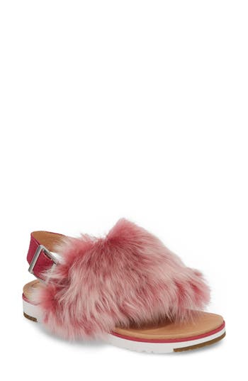 Ugg Holly Genuine Shearling Sandal, Pink