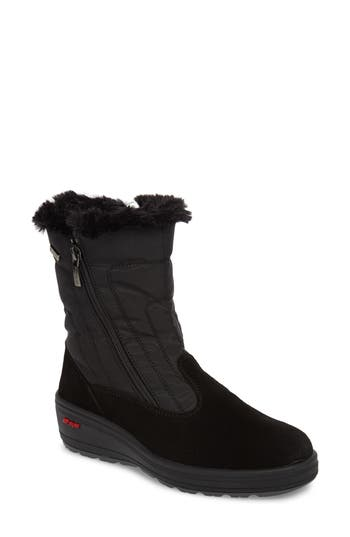 Pajar Raff Waterproof Boot With Faux Fur Lining, Black