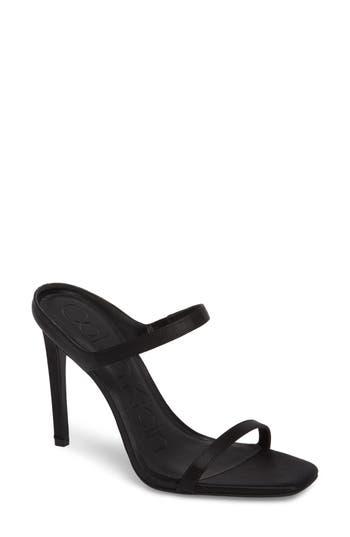 Women's Calvin Klein Dala Strappy Mule, Size 10 M - Black