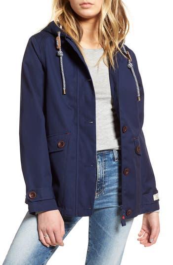 Joules Right As Rain Waterproof Hooded Jacket, Blue