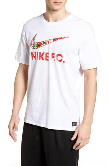 Nike F.c. Swoosh Flag Graphic T-Shirt, White