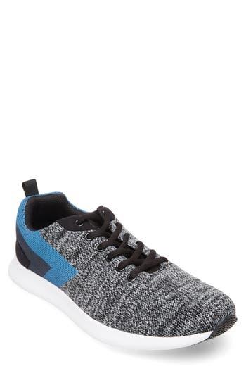 109ce688151 Steve Madden Barrett Knit Sneaker In Grey  Blue Leather