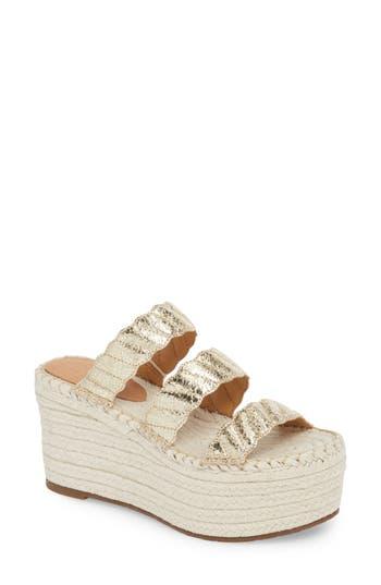 Marc Fisher Ltd Rosie Espadrille Platform Sandal- Metallic
