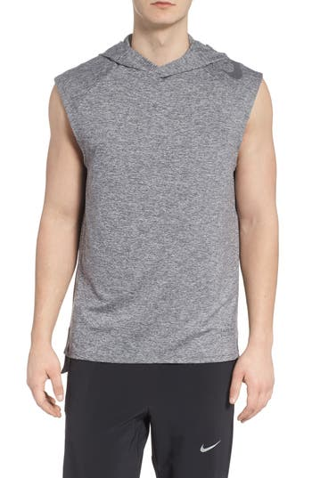 Nike Dry Element Sleeveless Hoodie, Grey