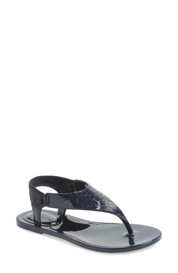 Women's Calvin Klein Janny Jelly Sandal, Size 8 M - Blue