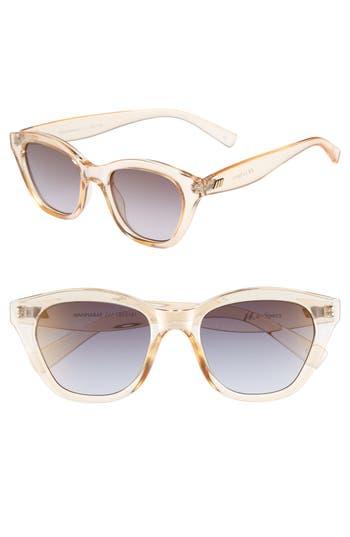 Le Specs Wannabae 4m Angular Sunglasses - Blonde