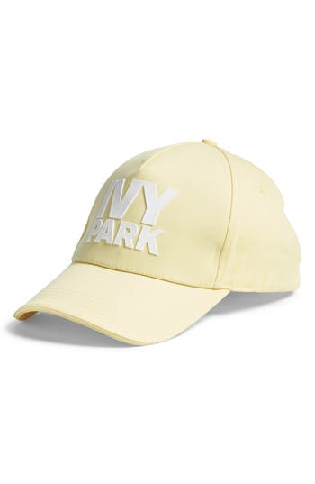 Ivy Park SILICONE LOGO BASEBALL CAP - YELLOW
