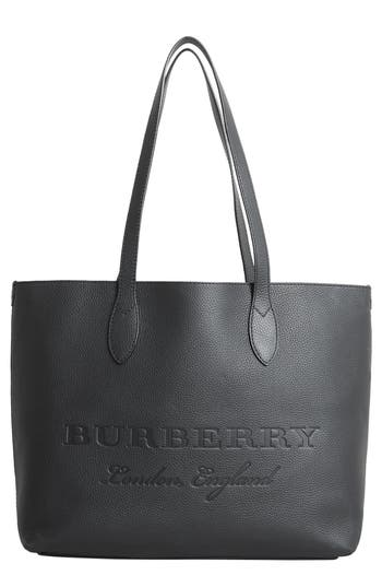 Burberry Remington Leather Tote - Black