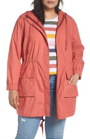 Plus Size Caslon Techy Parka, Pink