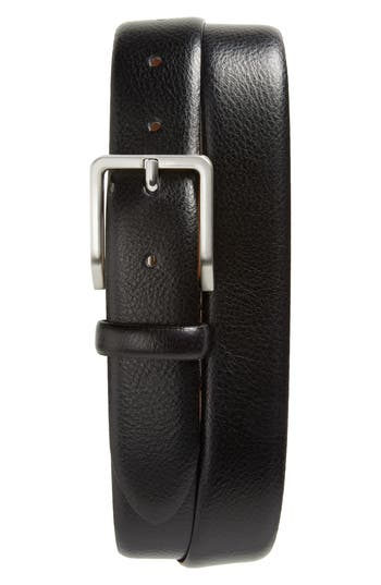 Johnston & Murphy Leather Belt, Black