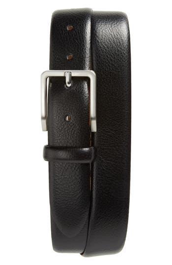 Johnston & Murphy Leather Belt, Black