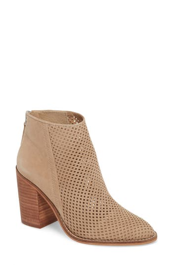 Steve Madden Rumble Perforated Bootie, Brown