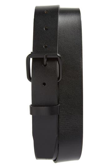 Saturdays Nyc Rockaway Leather Belt, Size One Size - Black