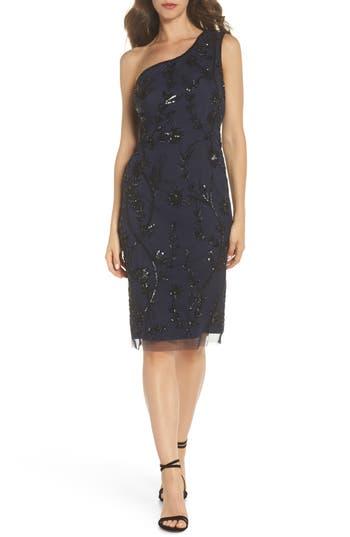 Adrianna Papell Beaded Sheath Dress, Blue