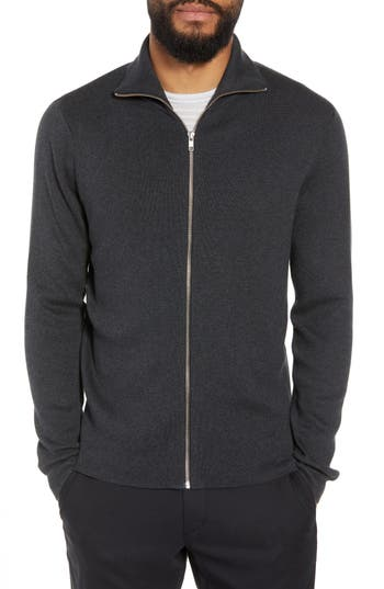 Calibrate Mock Neck Zip Sweater, Black