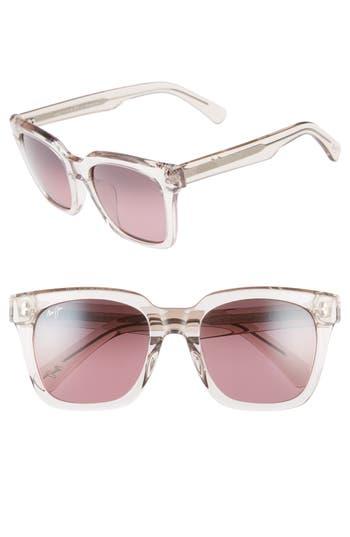 Maui Jim Heliconia 5m Polarizedplus2 Square Sunglasses - Crystal Pink/ Maui Rose